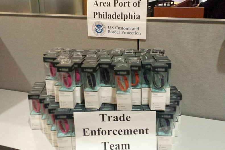 fitbit, fitness wearables, fake, CBP
