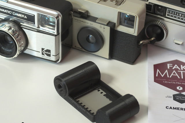 camerahack  d printed film adapters fakmatic mm adapter for instamatic