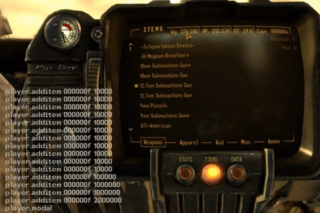 warning fallout  console commands can wreck save file falloutconsole