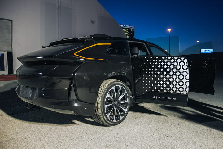 faraday future ff  test drive first impressions ces