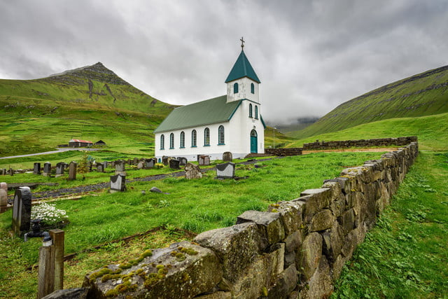 mapillary faroe islands stock photo