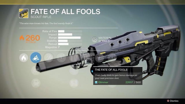 destiny devs gift exclusive gun fan using game brain surgery therapy fate of all fools