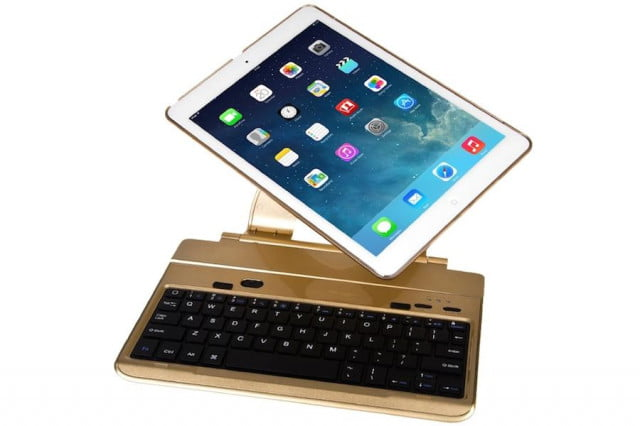 the favi swivel screen case gives your ipad air a notebook esque qwerty keyboard faviswivel