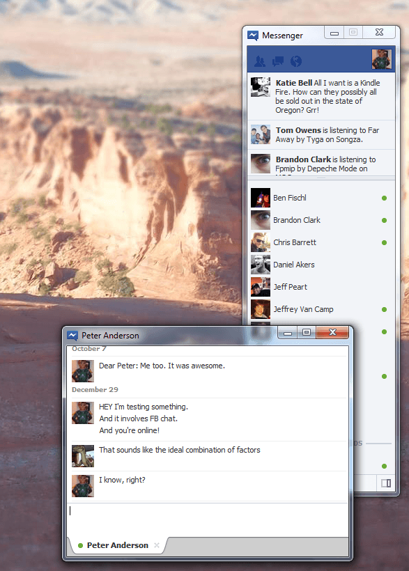 fb chat for windows