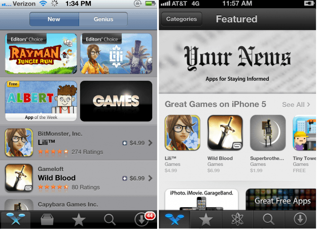 featured new app store