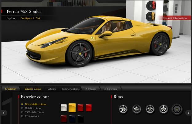 Ferrari-allows-potential-customers-to-build-458-Spider-online,-cruelly-teases-the-rest-of-us