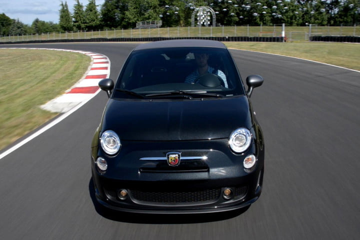 fiat abarth cabrio review driving front