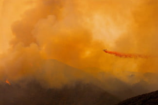 Fighting Wildfires in Santa Barbara, CA (Vincent Laforet Wildfires Aerial 02)