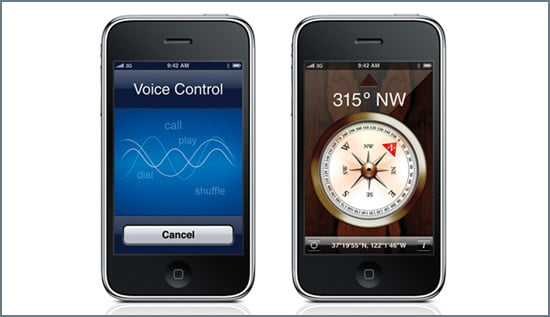 Voice-Activated Dialing and Commands and Digital Compass