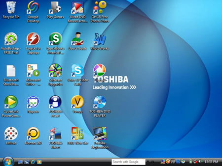 Toshiba M305 Screenshot