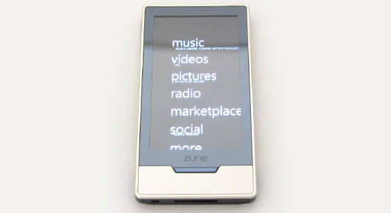 Microsoft Zune HD and Apple iPod Touch