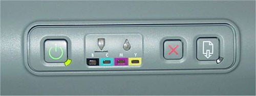Controls of the HP 1100d