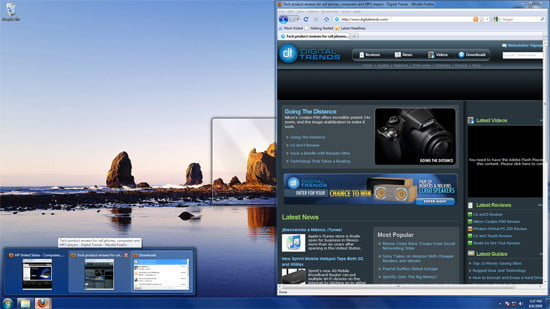 Windows 7 Hover Feature