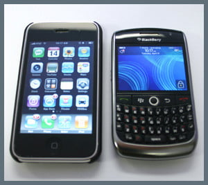 iPhone 3G & BlackBerry Curve 8900