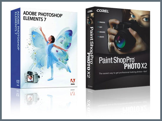 Adobe's Photoshop Elements 7 & Corel's Paint Shop Pro Photo X2 Ultimate