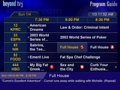 Beyond TV Program Guide