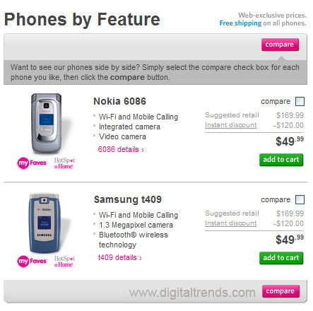 T-Mobile Wi-Fi Phones