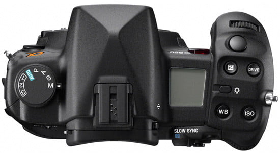 Sony Alpha A850 Top View