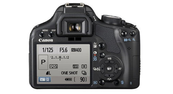Settings available on a Canon EOS Rebel T1i