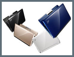Asus 1000HE in available colors