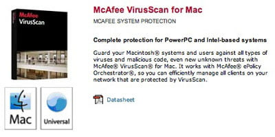 McAfee Screenshot