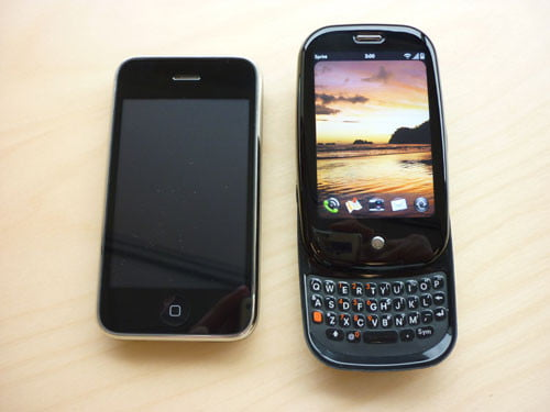 Apple iPhone and Palm Pree