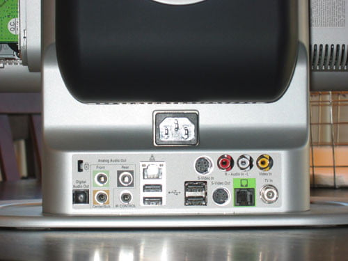 The available connections located on the back of the 610XL