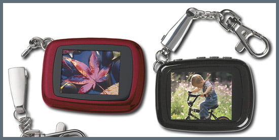 Insignia-branded LCD Digital Photo KeyChains