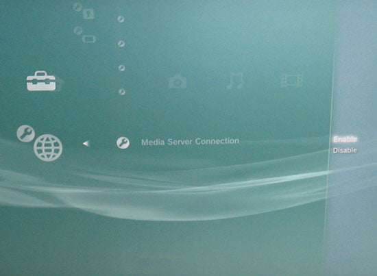 Playstation Media Server Connection