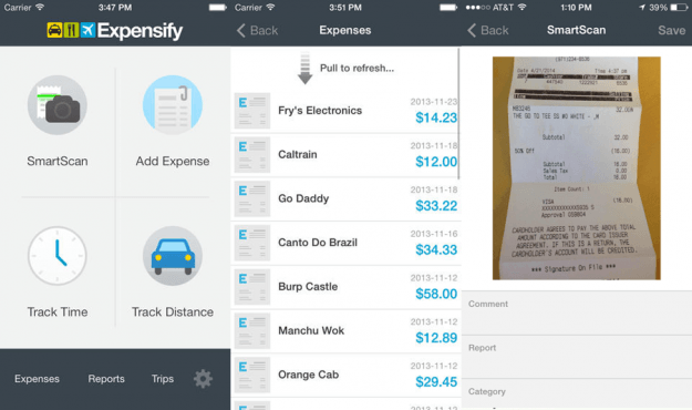 Final Expensify App Screens