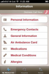 Find-ER Emergency iOS app screencap