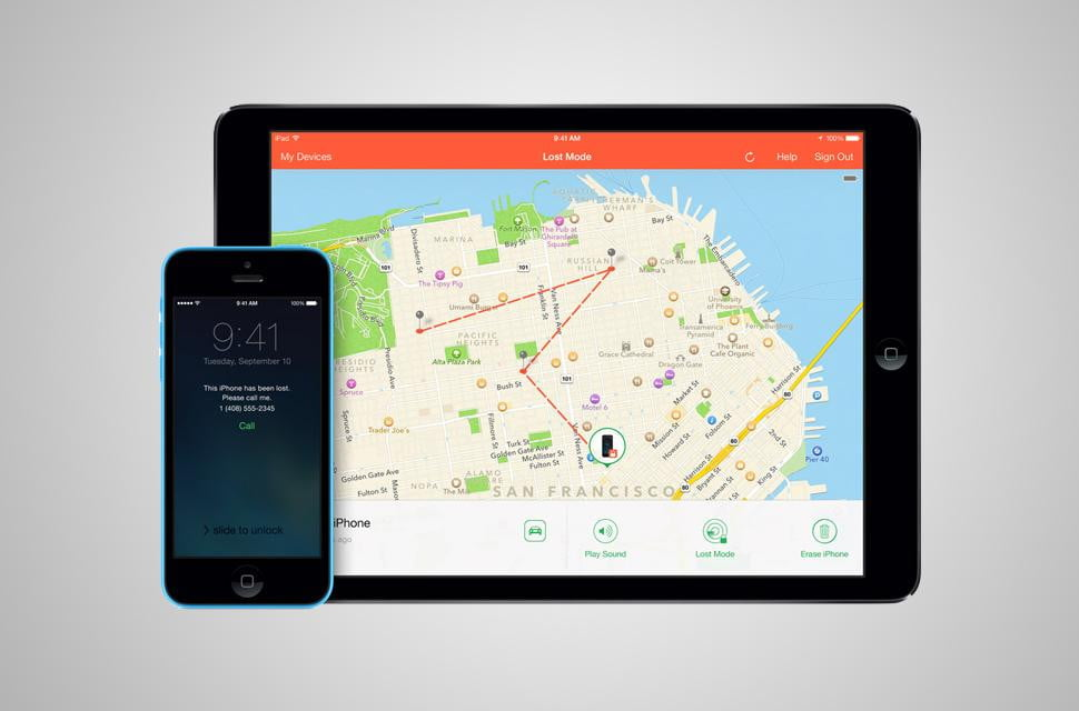 how to use find my iphone screen