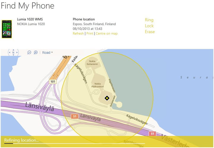 Find My Phone Windows Phone