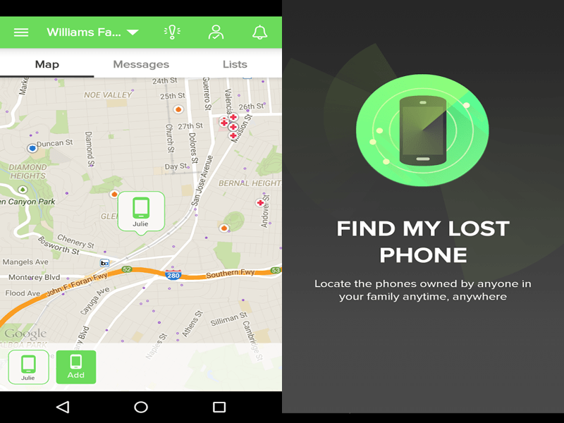 Find my phone android from iphone