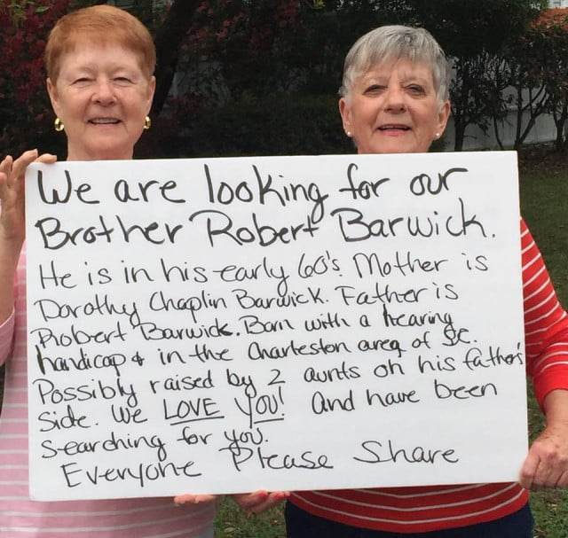 two sisters find their long lost brother via viral facebook post findrobertbarwick