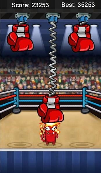 finger boxer nook screenshot nook tablet game app