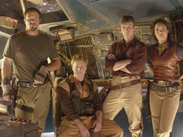 The cast of Firefly