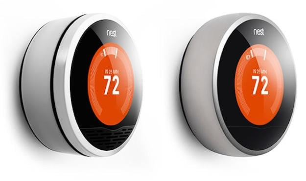 First and second generation Nest thermostat