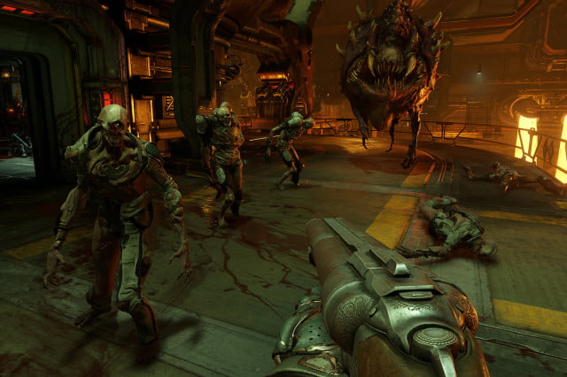 doom multiplayer dlc packs first person shooter bethesda