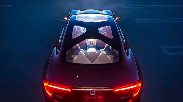 Fisker Atlantic Top Down View