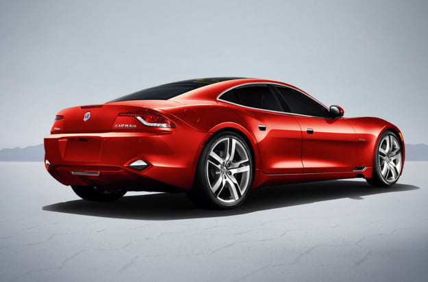 fisker karma rendering red