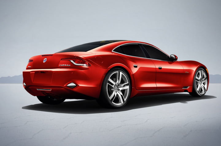 fisker and tesla battle to avoid becoming the next delorean karma rendering red