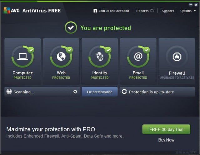 AVG AntiVirus Free 2015 (Windows/Mac OS X/Android)