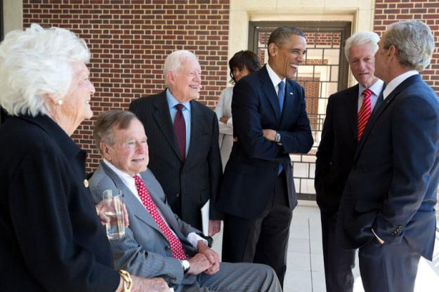 five surviving presidents