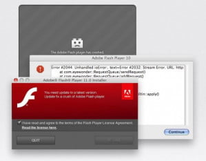 Flashback installer (faking Adobe Flash, not Java)