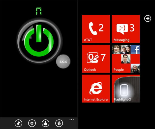 flashlight x pro screenshot flashlight utility windows phone 7