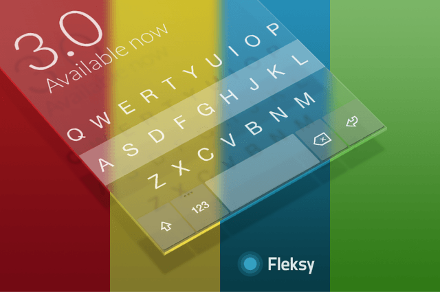 fleksy  android themes and premium features surface design