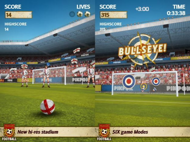 flick kick football screenshot iphone ipod ios free game app