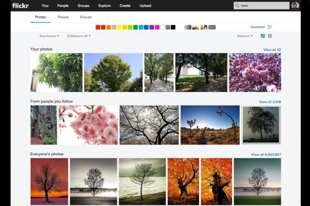 Searching for photos in Flickr is not only easier, but more dynamic.