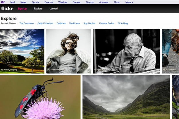 flickr yahoo banner